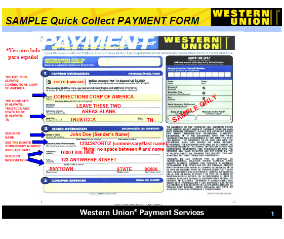 Western union say that you mush print this out then fill in information